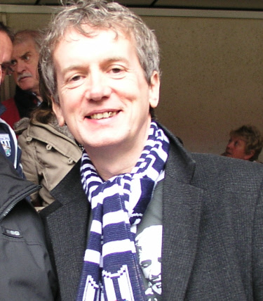 Frank Skinner Wearing West Brom Scarf