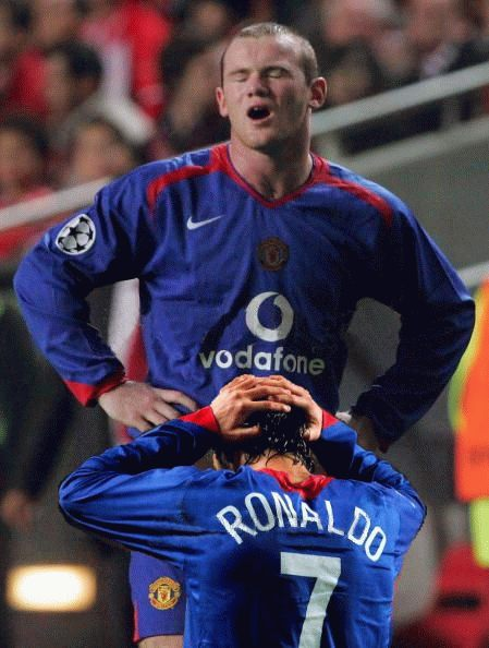 Rooney and Ronaldo