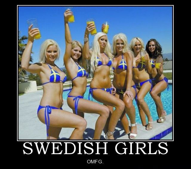 Swedish girls in bikinis