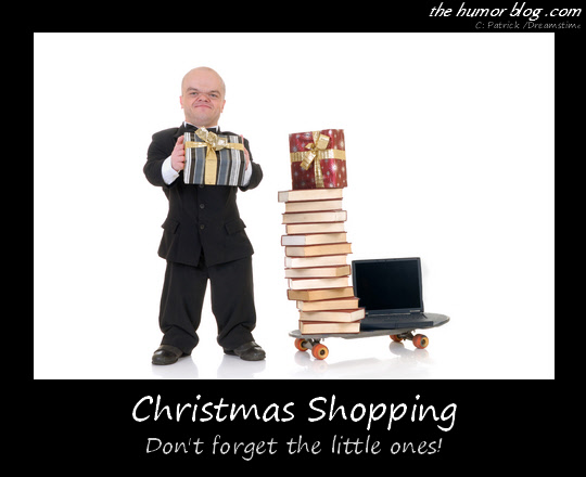 Christmas Shopping Caption Picture – Don't Forget The Little Ones!
