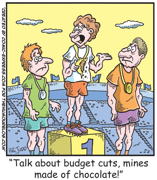 Political Cartoon Budget Cuts Olympics