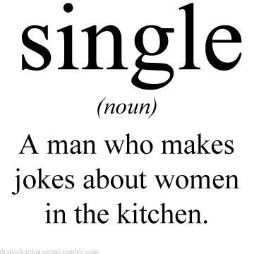 Definition of a single man
