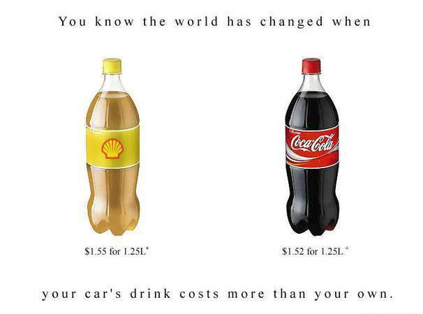 Fuel more expensive than coke