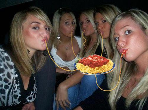 Girls like spaghetti