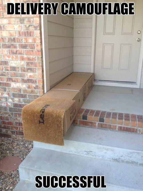Leave my package under the mat