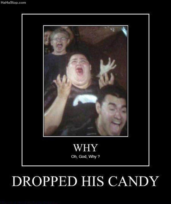 He dropped candy