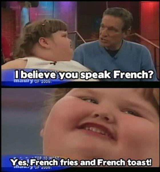 She loves french toast