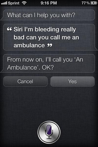 Siri nearly killed me