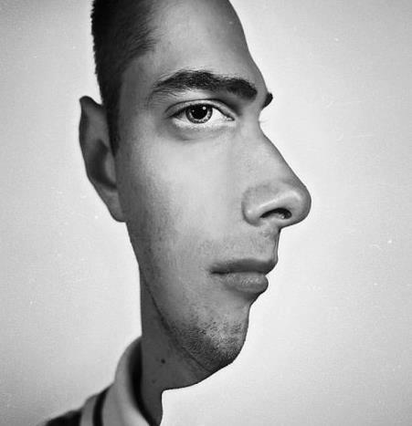 Two faces illusion