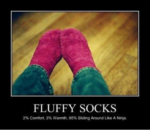Why we love fluffy socks