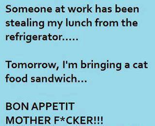 Stealing sandwiches idea