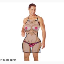 Novelty rude apron